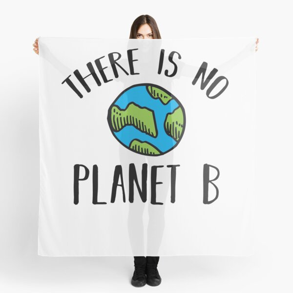 There Is No Planet B (Black) Scarf