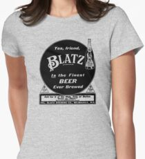 Vintage Blatz beer print ad Womens Fitted T-Shirt