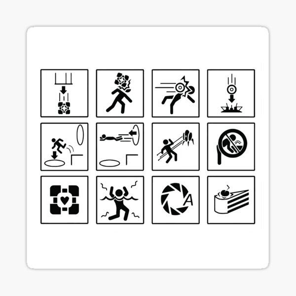 Portal Signs Sticker