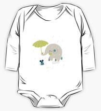 Un éléphant amoureux Body - Manches longues