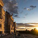 Palacio Real Framing the Sunset in Madrid Spain by Georgia Mizuleva
