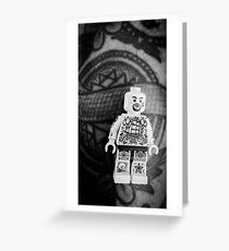 Brickography Pictures - Body Art Greeting Card