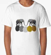 Elephants & Geometric Long T-Shirt