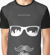 Hipster Neither Lost Nor Found Graphic T-Shirt