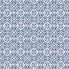 Blaue Kachel von Kurt Ebbers