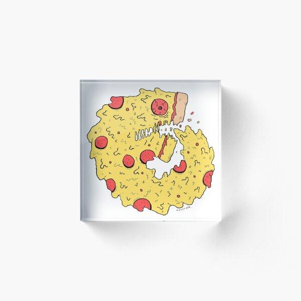 Pizza Eater Acrylic Block