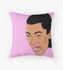 Kim Crying Throw Pillow