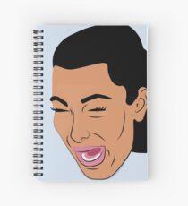 Cuaderno de espiral Kim llorando