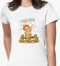 Singing in the Rain Women's Fitted T-Shirt
