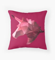 Unicorn pink stars abstract Throw Pillow