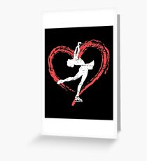 I Love Figure Skating Shirt Greeting Card
