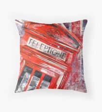 London Calling by Nibs Gallery Throw Pillow