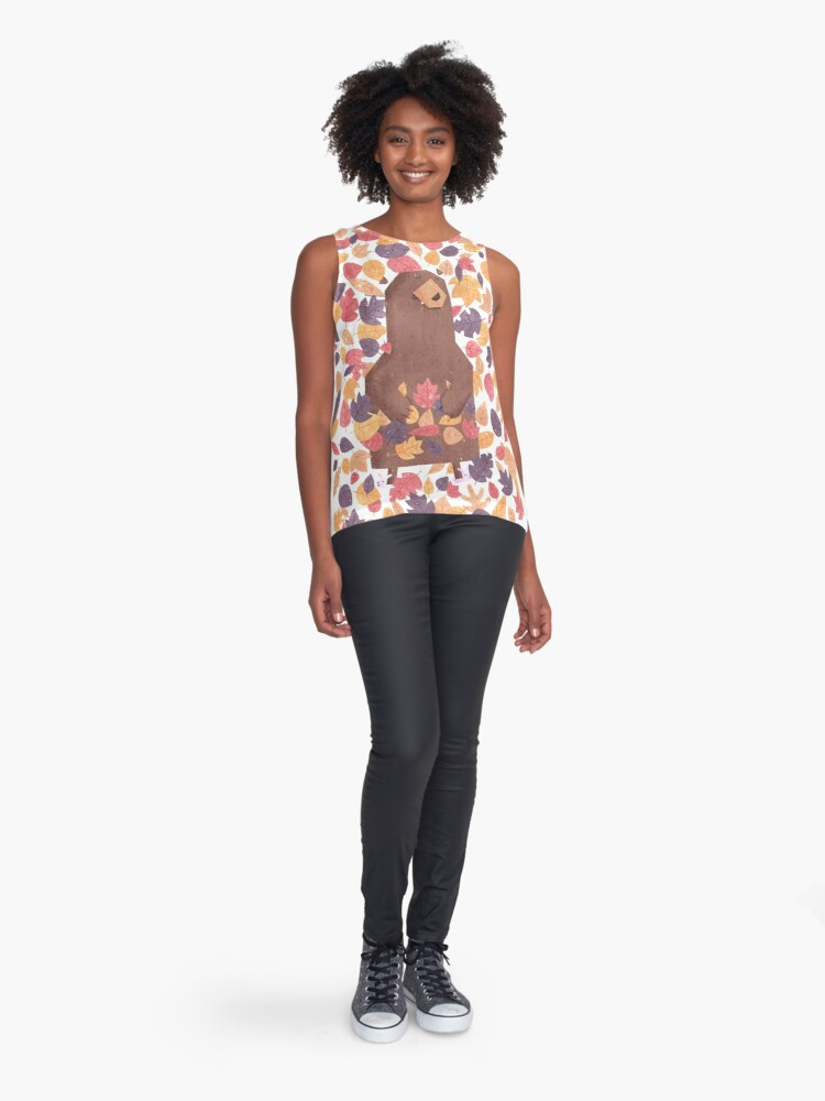 Alternate view of Leaf the Bear Alone Sleeveless Top