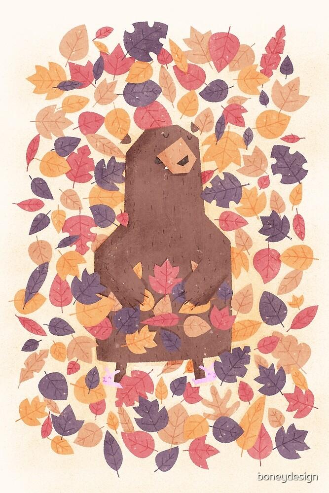 Leaf the Bear Alone by boneydesign