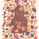 Leaf the Bear Alone by boneydesign