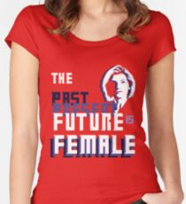 The Past-Present-Future Is Female (Silhouette) Women's Fitted Scoop T-Shirt