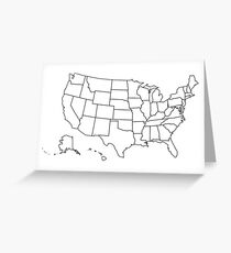 United States map Greeting Card