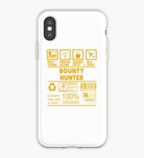 BOUNTY HUNTER - SCHÖNES DESIGN 2017 iPhone-Hülle & Cover