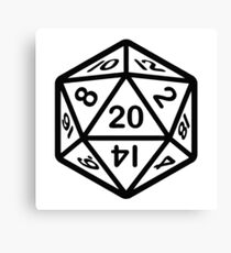 20 face dice sticker D&D Canvas Print