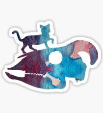 Watercolor Cat Art Sticker