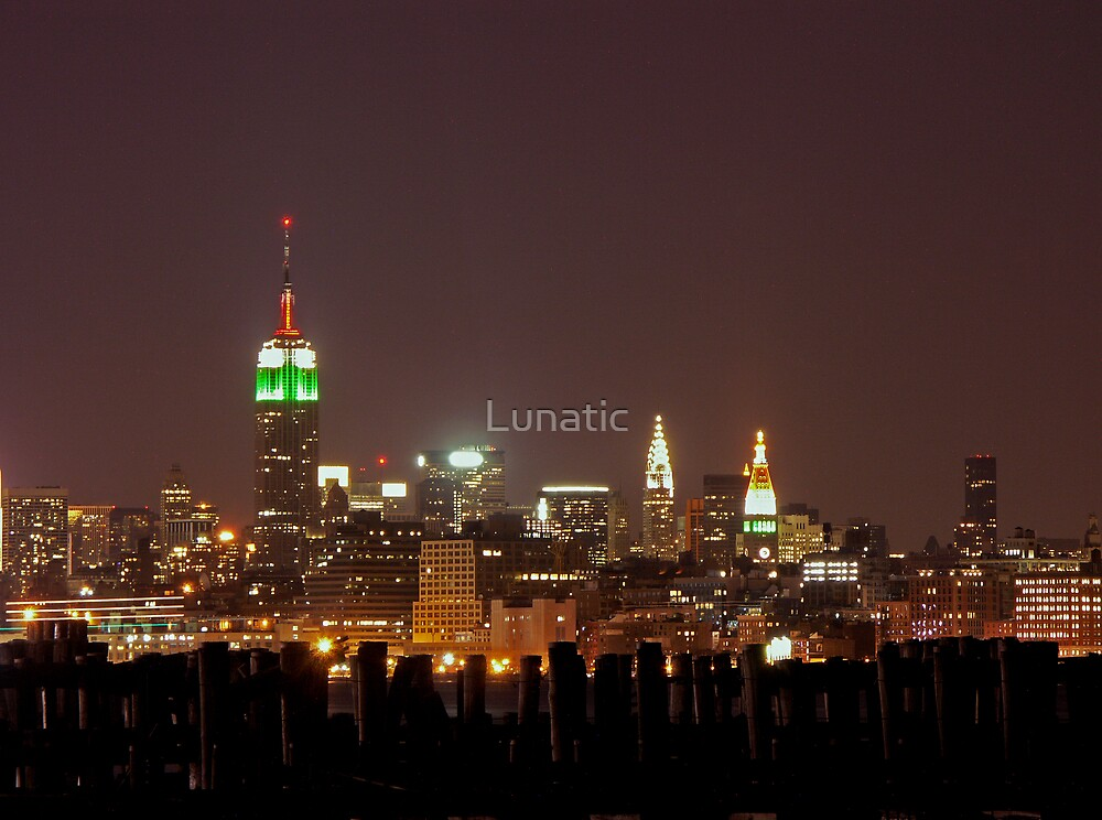 Manhattan at night, New York City by Lunatic