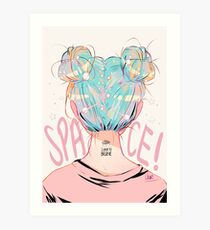 SPACE BUNS! Art Print