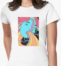 Psychedelic Vibes Womens Fitted T-Shirt