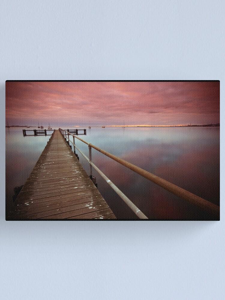 Alternate view of Purple Rain Reflection Canvas Print