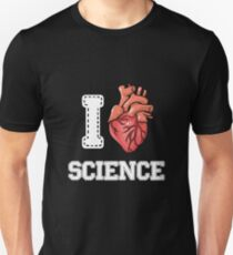 I Love Science Nerdy Geeks Science Biology Gift Unisex T-Shirt