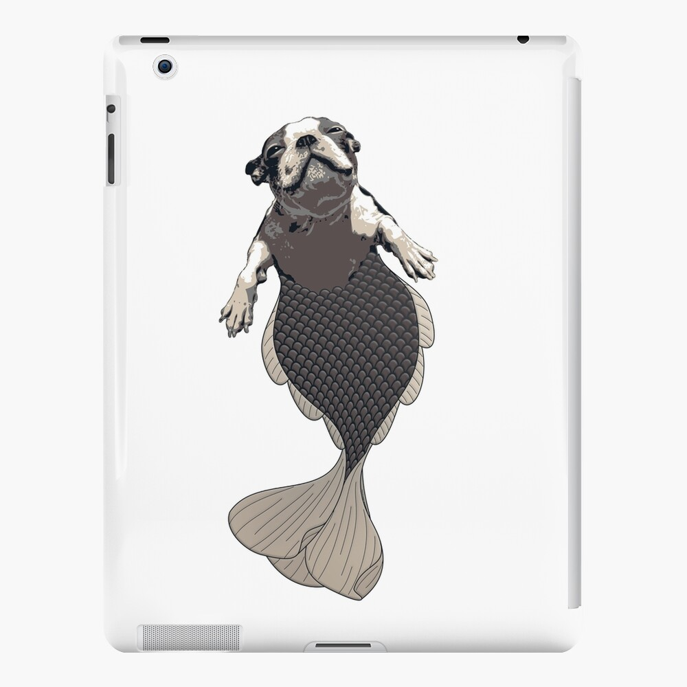 Blithe the Boston Terrier Merpup iPad Case & Skin