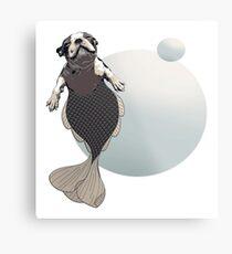 Blithe the Boston Terrier Merpup Metal Print