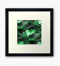 Meshed Green Framed Print