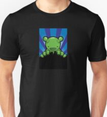 Big Fat Robot eats Melbourne - blue T-Shirt