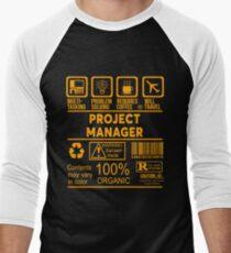 PROJECT MANAGER - NICE DESIGN 2017 Men's Baseball ¾ T-Shirt