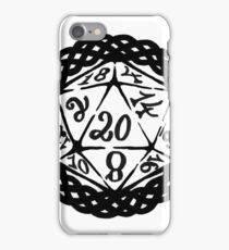 D20 Dice for Roleplaying Celtic Border iPhone Case/Skin