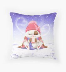 Schnuffelienchen Winter Throw Pillow