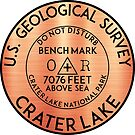 BENCHMARK CRATER LAKE OREGON GEOCACHING MOUNTAINS HIKING CLIMBING by MyHandmadeSigns