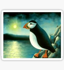 Puffin on a Cliff Sticker