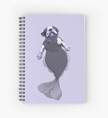 Lila the Boston Terrier Merpup Spiral Notebook