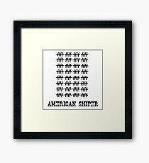 American sniper. Framed Print