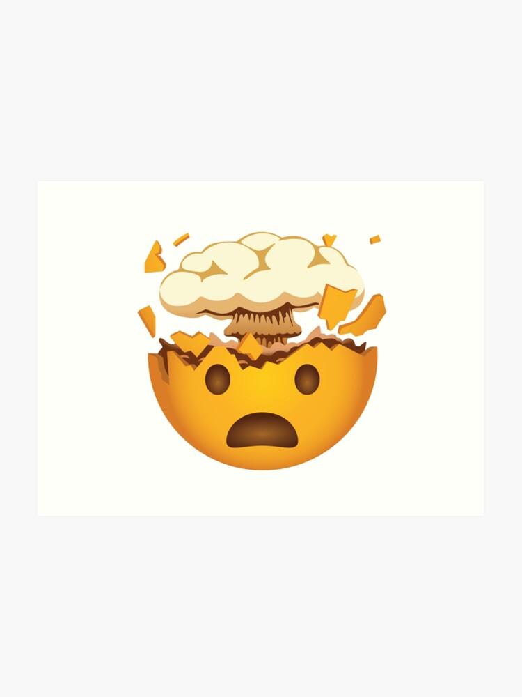 Mind Blown Emoji Funny New Emoji | Art Print