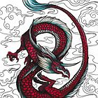 Red Chinese Dragon by AlustrielDay