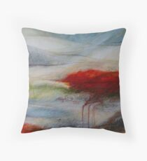 Red sand DUNE Throw Pillow