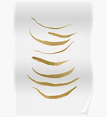 Gold Brush Abstract Poster