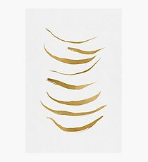 Gold Brush Abstract Photographic Print