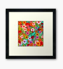 Colorful Hibiscus Framed Print