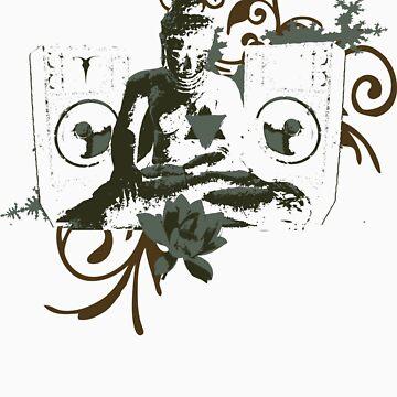 Psytrance Rave Buddha by enclothing