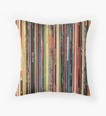 Classic Alternative Rock Records Throw Pillow