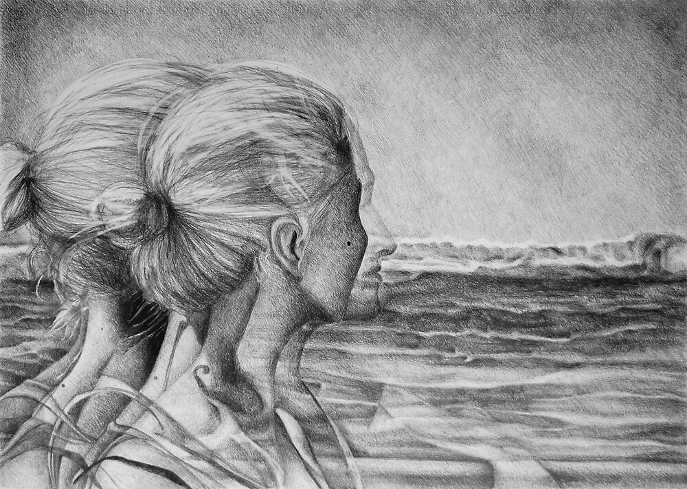 Lost In The Wind, 2016, 50-70 cm, graphite crayon on paper by oanaunciuleanu