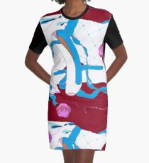 Ballet in white and blue Graphic T-Shirt Dress